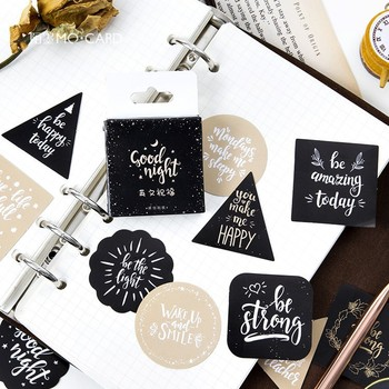 45pcs/box Make A Wish Mini Sticker Scrapbooking Diy Paper Label Diary Journal Stationery School Supplies - discount item  10% OFF Stationery Sticker