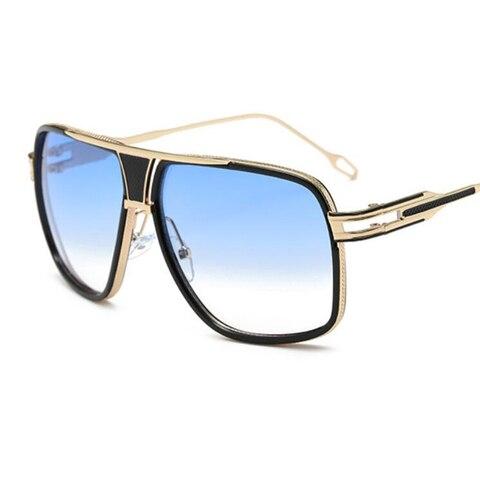 Men Fashion Square Sunglasses Mirror Shades Metal Big frame Vintage Brand Sun Glasses Women Clear Lens Eyewear Karachi