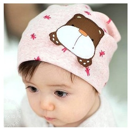 45e4628f7d5 0-1 year old baby hat 3 - 6 - 12 months old male child turban 100% cotton  pocket spring and autumn hat