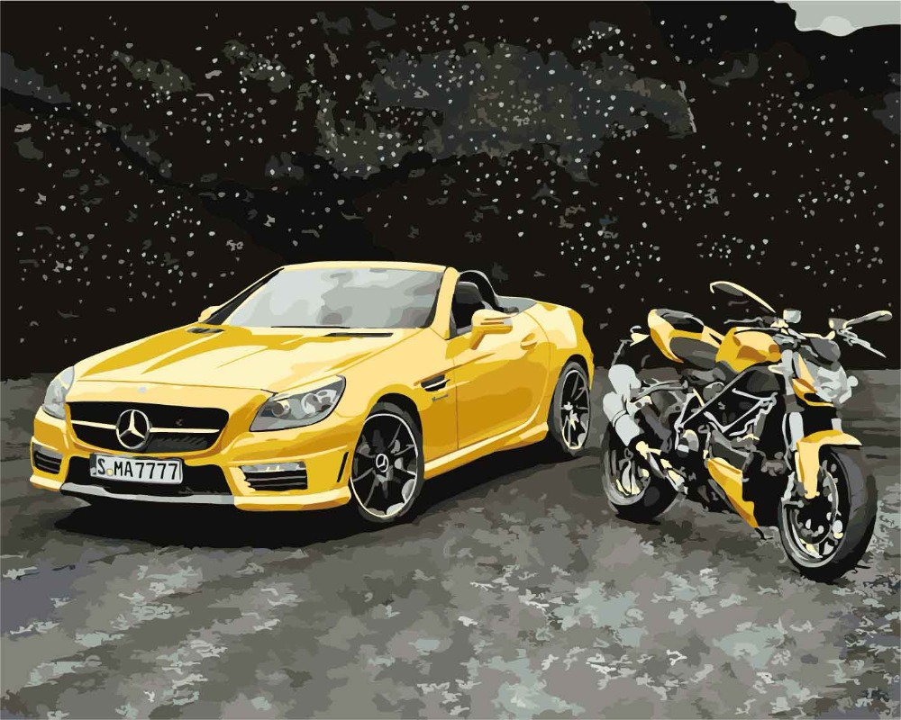 Nordic Cool Sports cars Spray Canvas Painting Canvas Art Separate ...