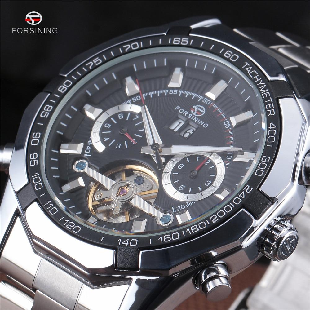 Newest Forsining Tourbillon Design Clock Men Automatic Montre Watch Skeleton Military Watch Mechanical Relogio Male Erkek Saat стоимость
