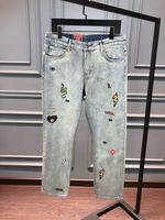 WLD11158BA Новая мода для мужчин's джинсы для женщин 2018 взлетно посадочной полосы дизайнерский бренд класса люкс Европа зима стиль
