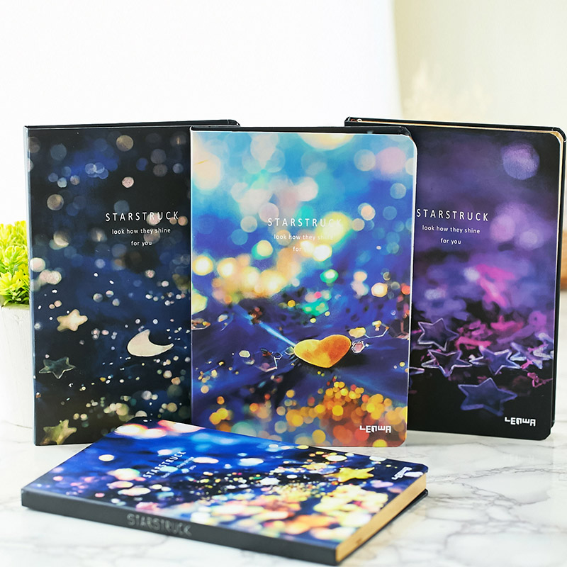 LENWA Star Notebook Creative Stationery South Korean Thickened Hard Surface Notebook 1PCS