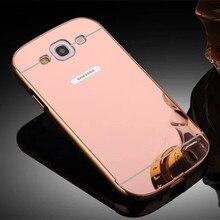 Для Samsung Galaxy I9301 S3 Neo GT-I9300i S4 I9500 S5 neo G903F Металлический Алюминий Case Акриловые Зеркало Chrome Телефон Задняя Крышка Capa