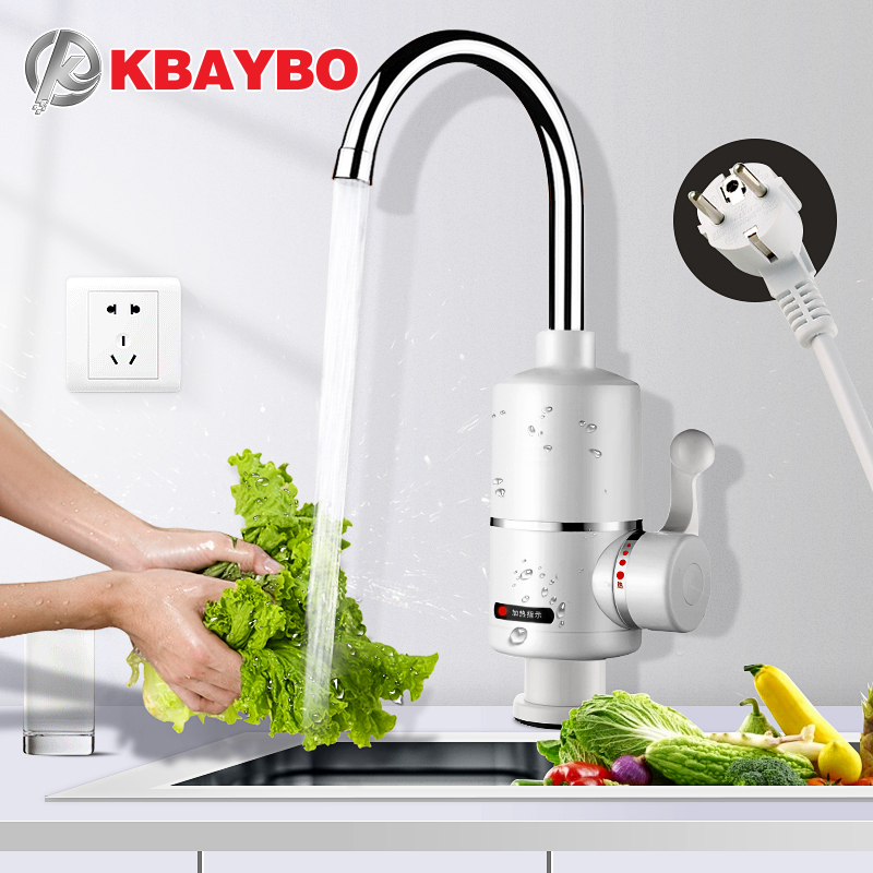 KBAYBO Water Heater Tap Kitchen Faucet Instantaneous Water Heater Shower Instant Heaters Tankless Water Heating tap EU plug image