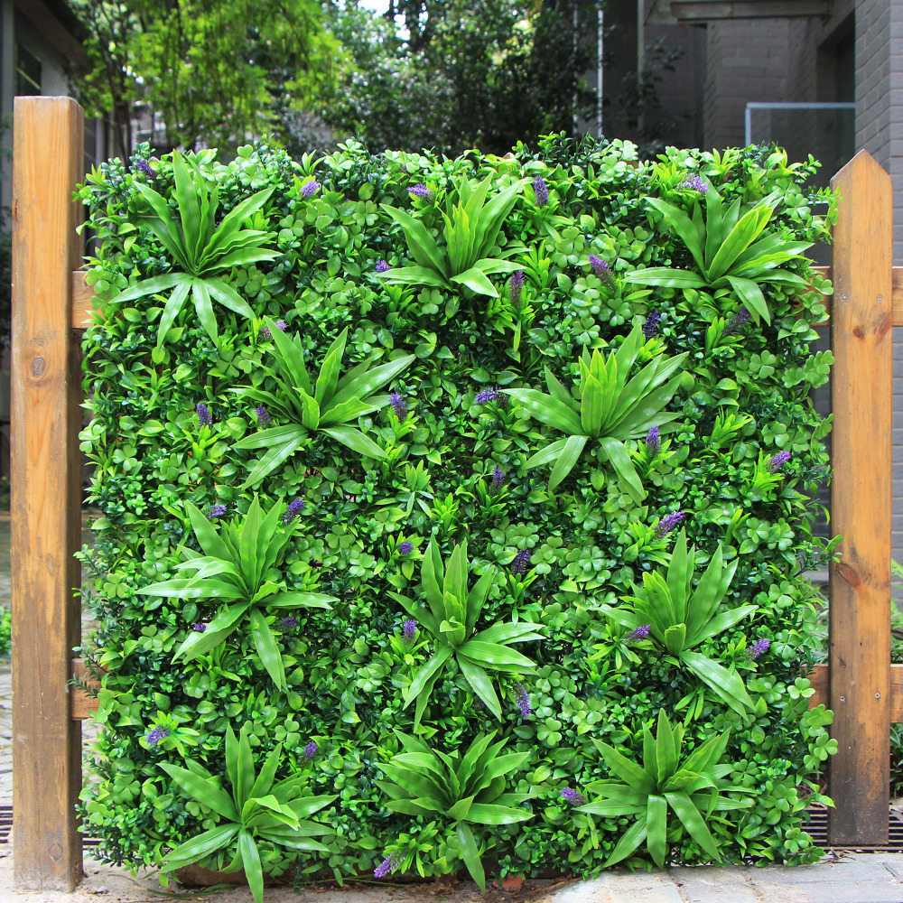 ULAND Artificial Privacy Fence Boxwood Hedge 1X1M Decorative Garden Fence Plants for Decoration Wedding Home Balcony Decoration