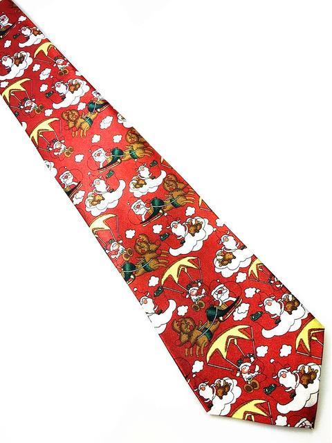 Nuevo diseño Navidad corbata 9,5 cm diseño suave