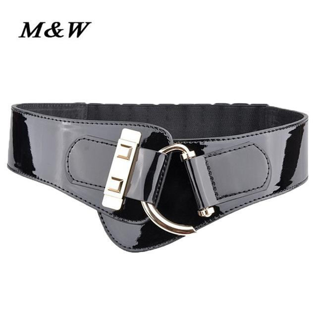 Nueva llegada de las mujeres cinto 2017 Corea moda de cuero cinturones para las mujeres opresión cinturón ancho cinturón de cintura elástica venta caliente