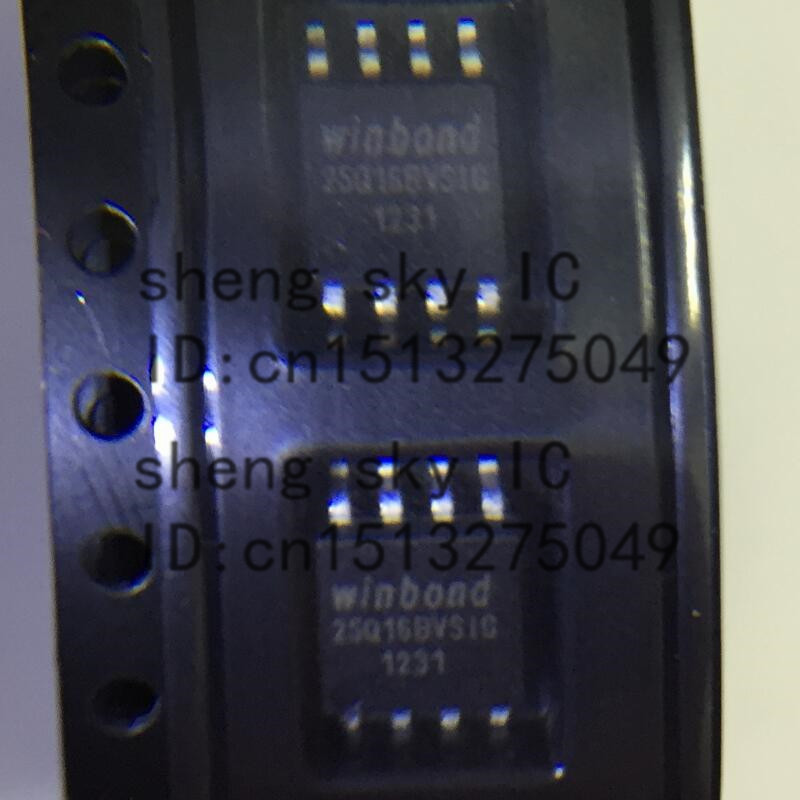 FREE SHIPPING 5PCS 25Q16 W25Q16BV 25Q16BVSIG SOP8 SMD WINBOND 16M-BIT SERIAL FLASH MEMORY WITH DUAL AND QUAD SPI IC