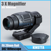 Hlurker Tactical Military 302 3X25MM Optics Scope Magnifier MagAirsoft 3x Riflescope Magnifying Rifle Scope Focus For