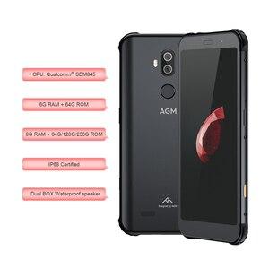 Image 4 - CHÍNH THỨC AGM X3 5.99 4G 8G + 64G SDM845 Android 8.1 IP68 Chống Nước Điện Thoại Di Động dual HỘP Loa điều chỉnh bởi JBL NFC