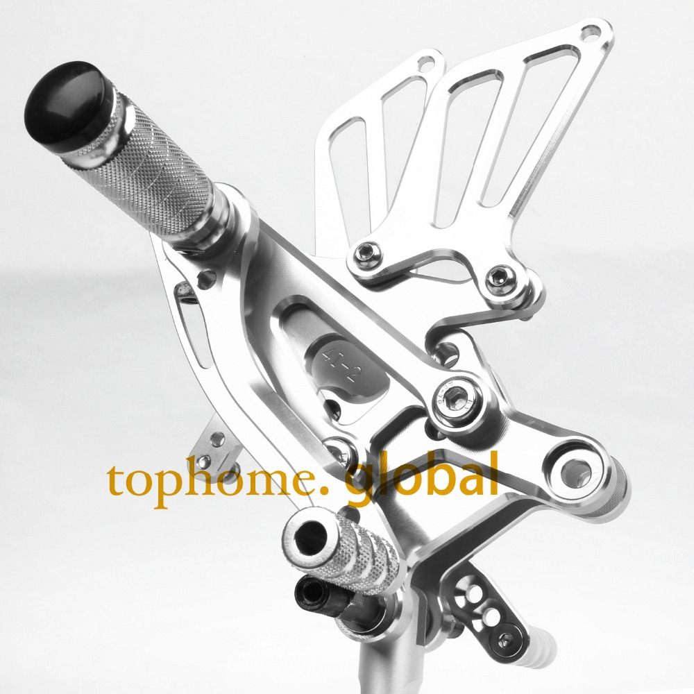 CNC Racing Adjustable Rearset Footpegs Rear set For Honda CBR600 F4 F4i 1999-2007 Silver Color 2000 2001 2002 2003 2004 20052006 new silver cnc adjustable footpegs rearset footrests rear sets for yamaha yzf r6 1999 2000 2001 2002