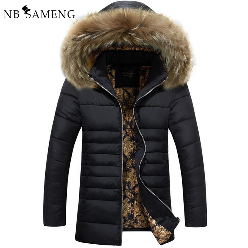 2016 New Mens Padded Coat Fashion Jacket Winter Brand Clothing Men Jaqueta Parka Warm Wadded Packable Sportswear 3XL NSWT193