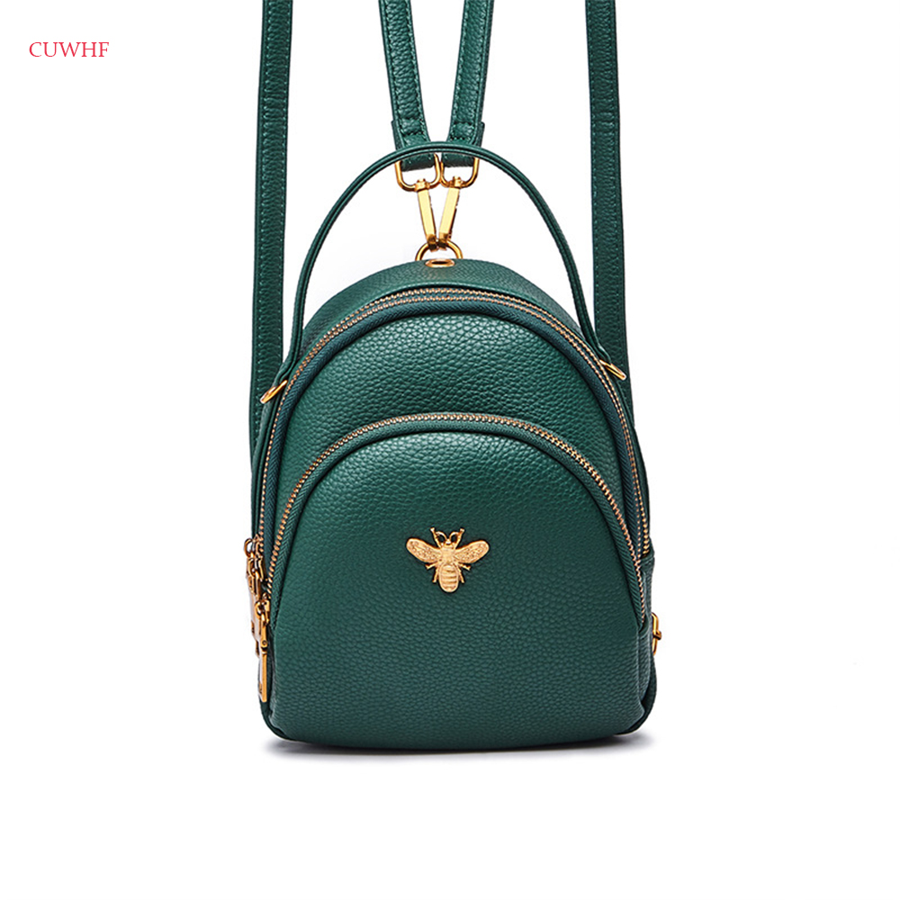 Little bee hardware Shipping Women Bag PU Leather Female Backpack School Bag Shoulder Bags High Quality Teenage Girls Travel Sac free shipping high quality pu leather female backpack women school bag teenage girls travel bags casual sac mummy bag 27 10 36cm