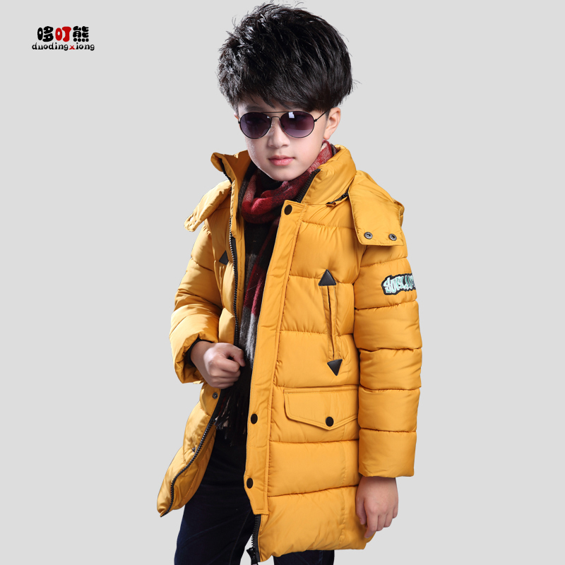 2017 new children's clothing boy down feathers winter winter thick cotton  in the large children's cotton jacket 2017 in the old lady down jacket thick fat mother models large size winter 40 50 60 grandmother coat long paragraph