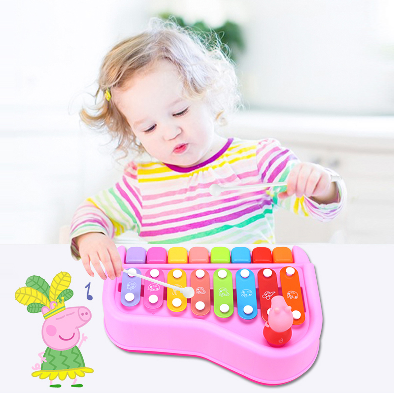 2018 Peppa George Pig Children Musical Instruments Toy Knock Piano Intelligence Education Christmas Birthday Best Gifts For Kid