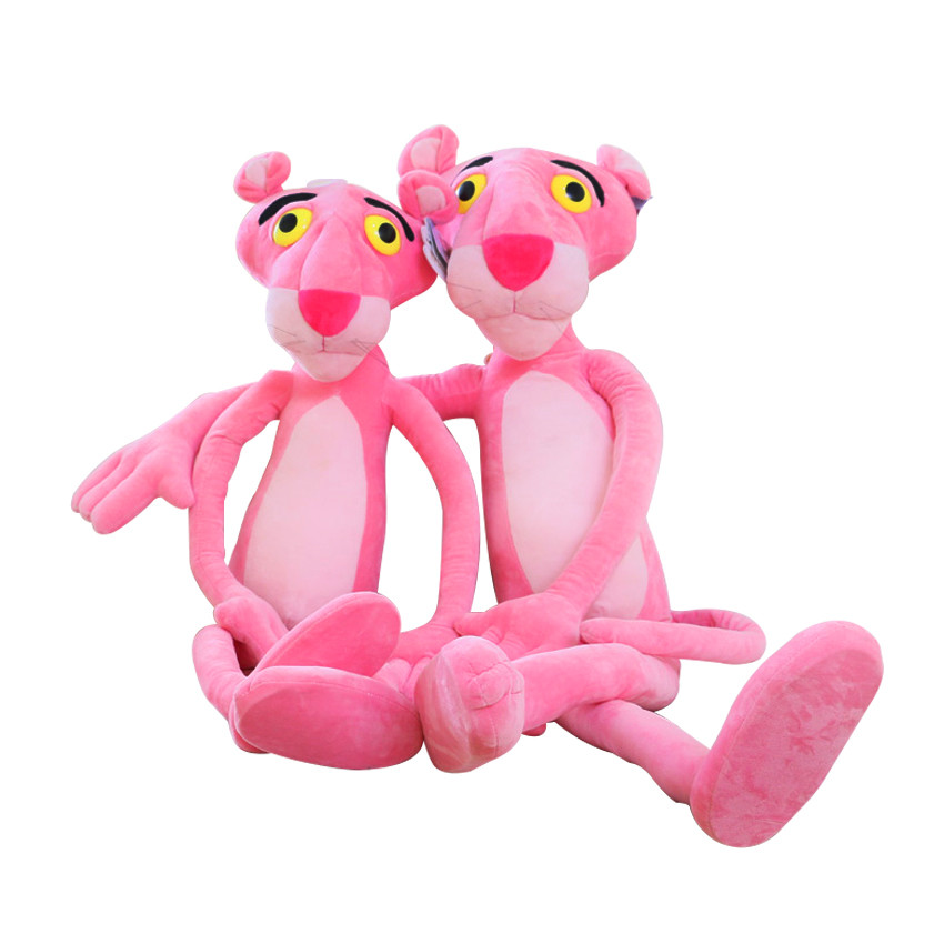 40cm Cute Pink Naughty Leopard Pink Panther Plush Stuffed Toys Baby Kids Doll Brinquedos Factory Price Christmas Gift For child