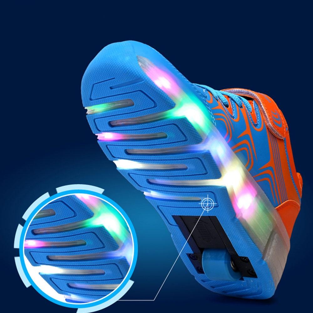 Led Lights up Kids Roller Shoes