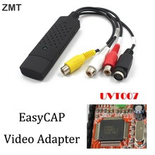 Easycap USB Video Capture Adapter TV DVD VHS Captura for Computer TV Camera USB 2.0 Easiercap DC60 UTV007 support Android phone