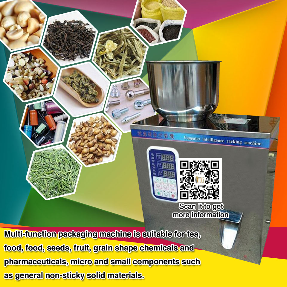 Granule filling machine small single head powder filling machine for tea food fruit 3-50g  2-100g computer intelligence racking machine