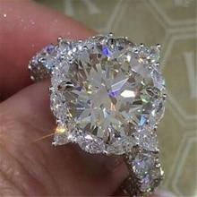 Ограниченная серия обручальное кольцо специальный момент для нее лучший подарок простое серебряное кольцо высшего качества помолвка Анель Feminino