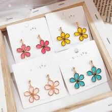 Korean Style Cute Flower Drop Earrings For Women 2019 New Fashion Sweet Wholesale Jewelry