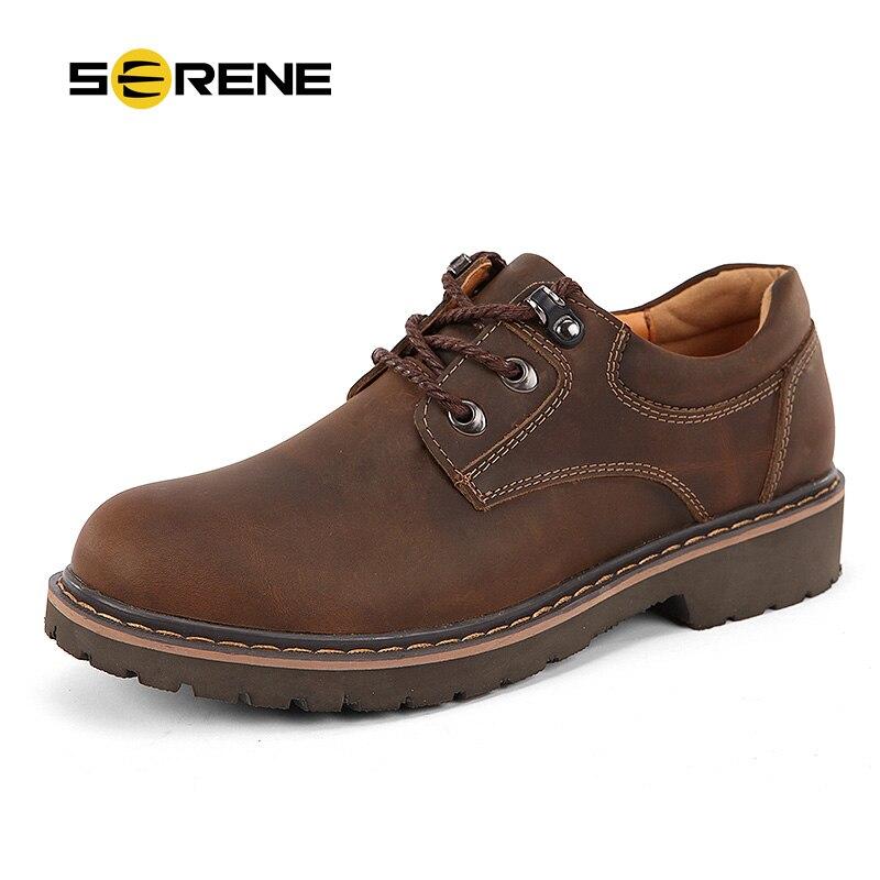 9646babb80e877 RUHIGE Marke 2018 Mann Schuhe Leder Werkzeug Schuhe Große Größe 38 ~ 46 männer  Casual Schuhe Warme Botas Männer Wasserdichte Schuhe 6277 in RUHIGE Marke  ...