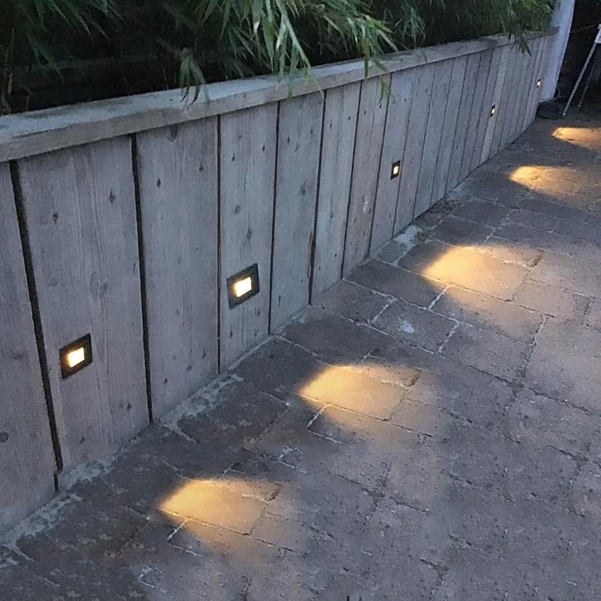 3W geleid trap licht met ingesloten box Aluminium Step Lights buiten - Buitenverlichting - Foto 3