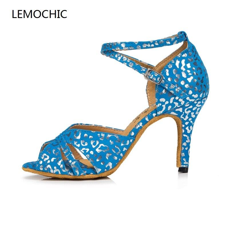 Lemochic más nuevo Latina Sumba cha-cha Polo salsa zapatos de tacones altos  elegancia cómoda 5ca53db83a6a