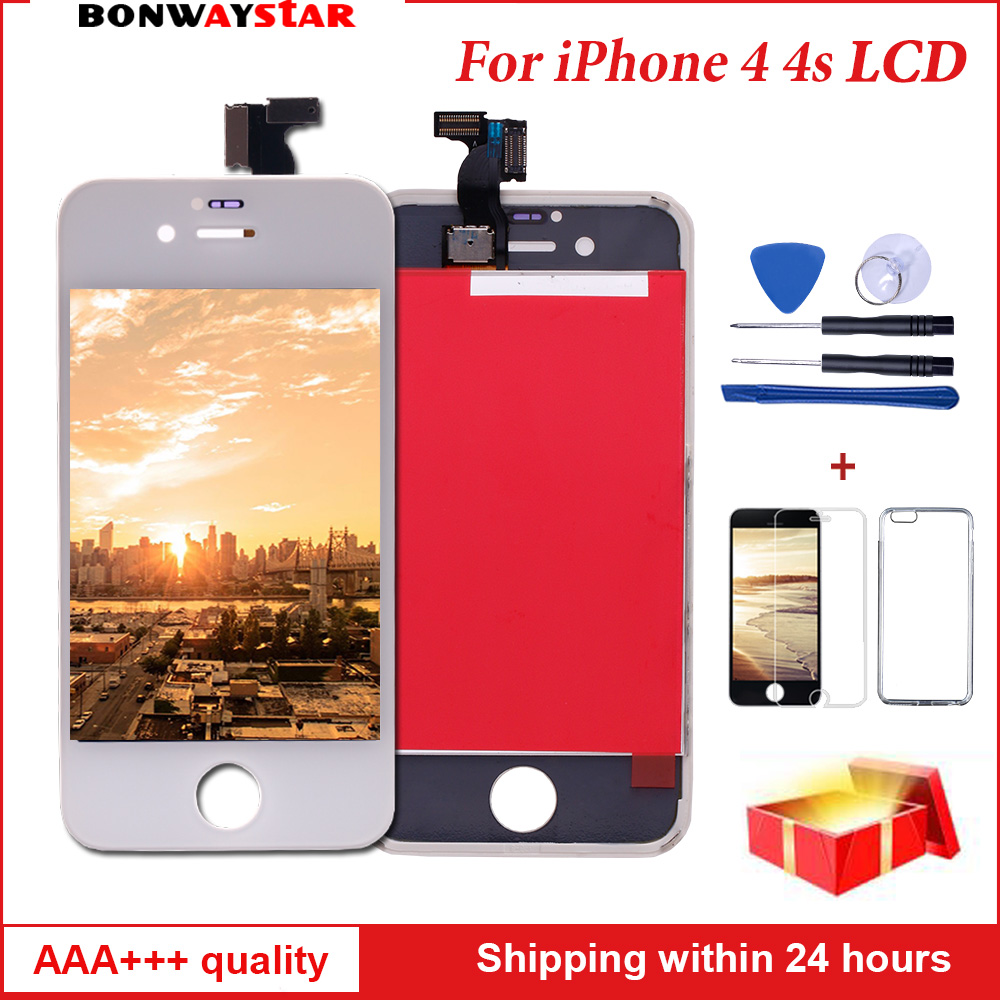 AAA LCD Display for iphone 4s A1387 A1431 Touch Digitizer Glass Assembly for iPhone 4 A1332 A1349 Screen LCD Pantal ReplacementAAA LCD Display for iphone 4s A1387 A1431 Touch Digitizer Glass Assembly for iPhone 4 A1332 A1349 Screen LCD Pantal Replacement