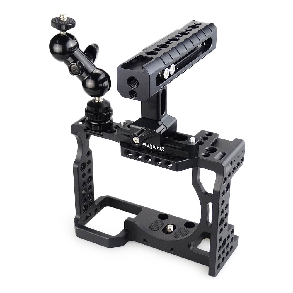 MAGICRIG DSLR Camera Cage with NATO Handle and Ball Head for Sony A7II A7III A7SII A7M3