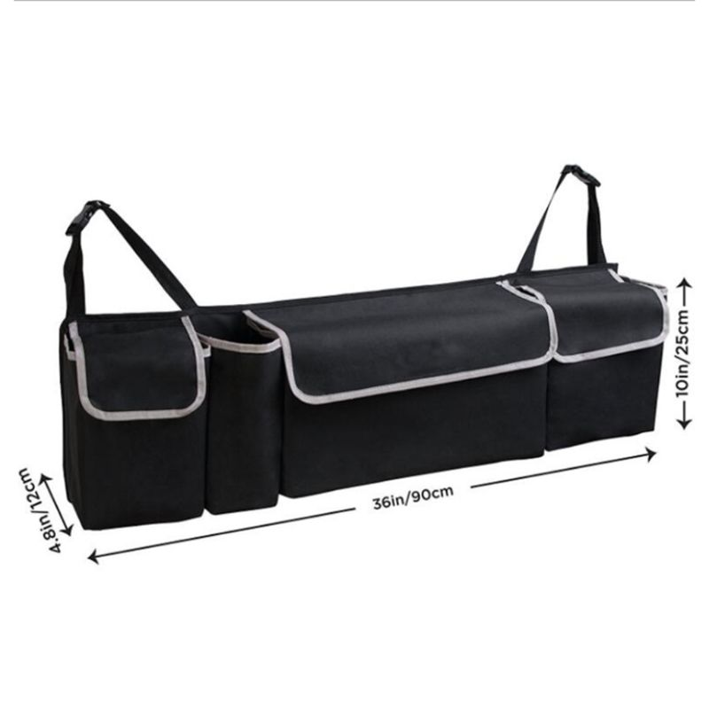 Image 5 - Oxford Cloth Suv Car Trunk Storage Storage Bag Multi Purpose Car Seat Back Hanging Bag Car Folding Debris Storage Back Trunk Bag-in Stowing Tidying from Automobiles & Motorcycles