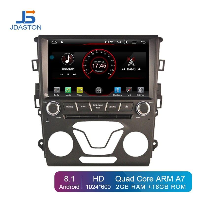 JDASTON Android 8.1 lecteur dvd De Voiture Pour Ford Mondeo Fusion 2013 2014 WIFI navigation gps 2 Din autoradio stéréo Multimédia RDS