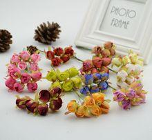 6 шт. Искусственный цветок для дома Декоративные Розы почки шелковые цветы DIY венок материал Невесты запястье цветок Свадебные украшения