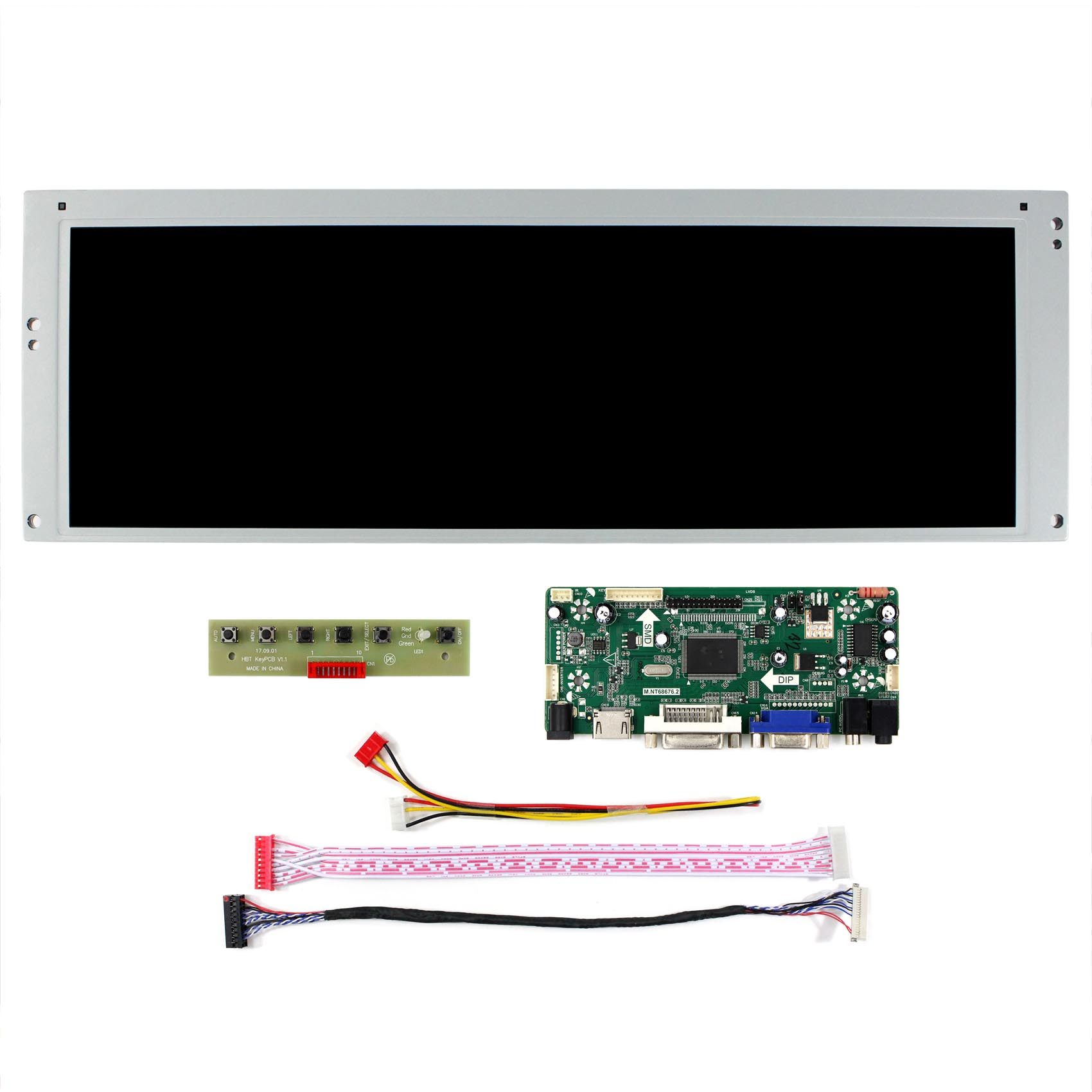 Image 2 - HDMI VGA DVI LCD controller board with 14.9inch 1280x390 LTA149B780F LCD screen-in Replacement Parts & Accessories from Consumer Electronics
