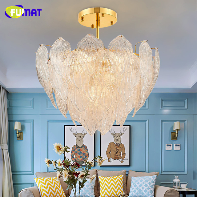Fumat modern brief living room restaurant leaf crystal chandeliers fumat modern brief living room restaurant leaf crystal chandeliers artistic artichoke lamp luxury white shade led aloadofball Image collections