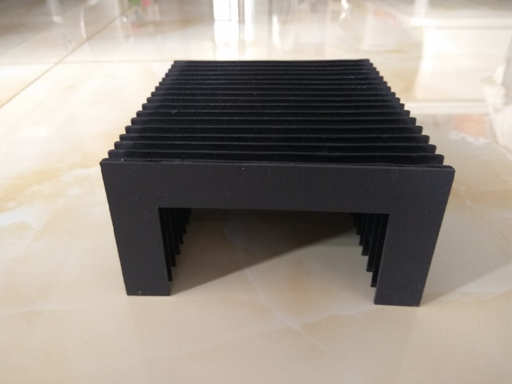 Custom size T12 flexible accordion protection dust bellows width100mm x height44 05mm x Full open length1448mm