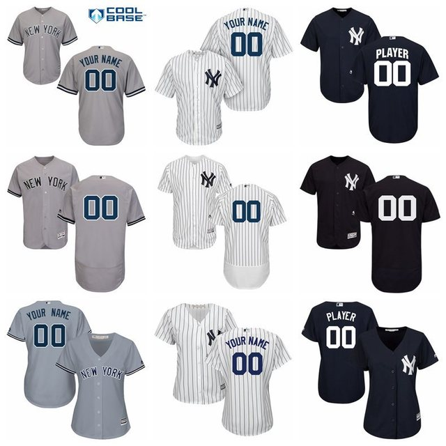 MLB New York Yankees Cool Base Flex Base Custom Jersey for men women kids  youth be7a866137b