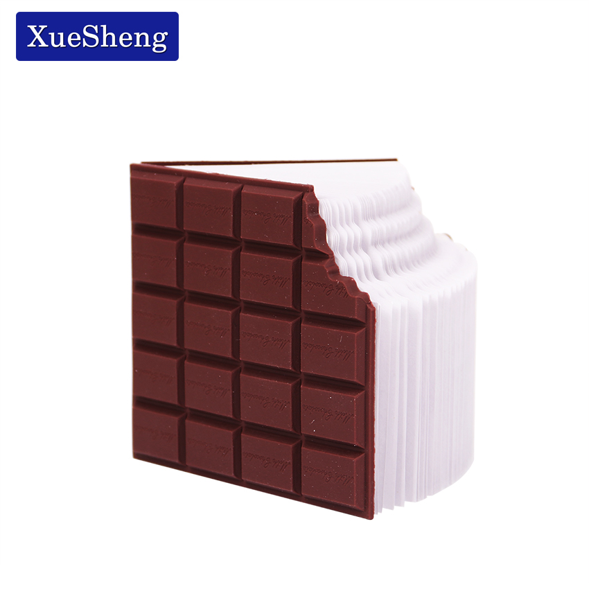1 PC Best Promotion Convenient Stationery Notebook Chocolate Memo Pad DIY Cover Notepad School Gifts