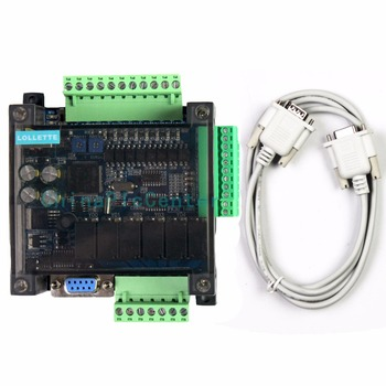 LE3U FX3U 14MR 6AD 2DA RS485 8 input 6 relay output 6 analog input 2 analog (0-10V) output plc controller  RTC (real time clock)