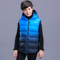 New Arrival Autumn Winter Boys Vest Thick Warm Hooded Kids Waistcoat Fashion Sleeveless Boys Outerwear Jacket Coat BC353