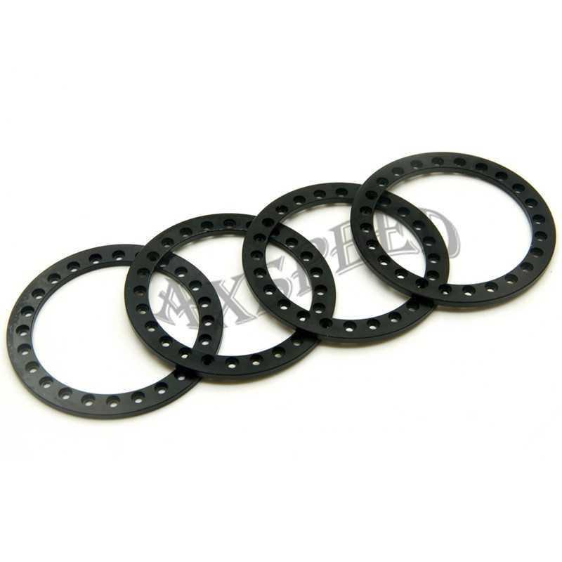 AXSPEED Zwarte Ringen voor 2.2 Velgen Legering Wiel Beadlock Ringen voor 2.2 inch Velg 1/10 RC Crawler Auto D90 SCX10
