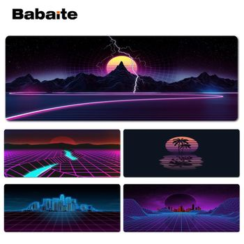 Synthwave Durable Rubber Mouse Mat Pad Size for 40x90CM Computer Mouse Mat