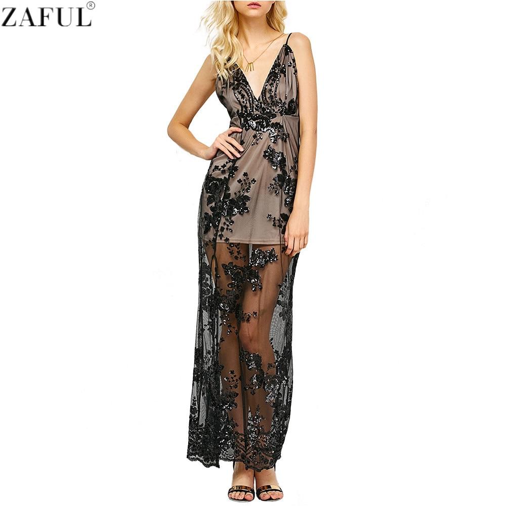 aliexpresscom buy zaful woman sequin dresses sexy