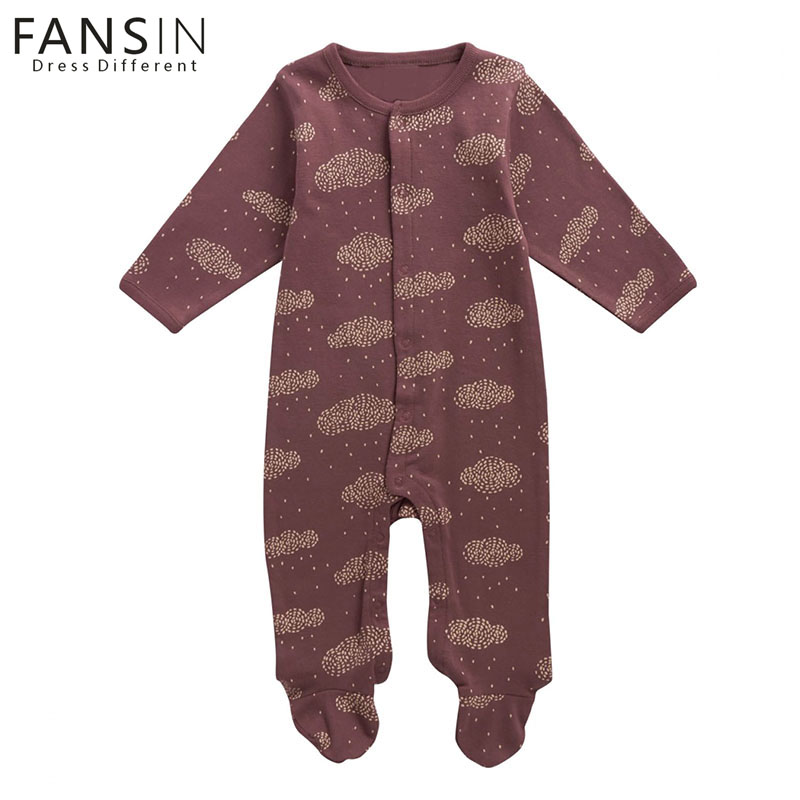 FANSIN Brand Baby Romper Unisex Warm Jumpsuit Long Sleeve Cloud Rompers Infant Baby Boys Girls Clothes Newborn Kids Outfits Set infant toddler baby kids boys girls pocket jumpsuit long sleeve rompers hats kids warm outfits set 0 24m