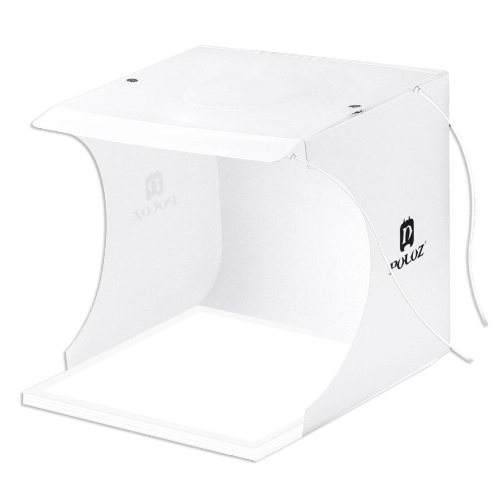 PULUZ Mini 22.5 LED Photographie Sans Ombre Fond Lumière Lampe Panneau Pad + 2LED Panneaux 20 cm lightbox Photo Studio Tir tente B