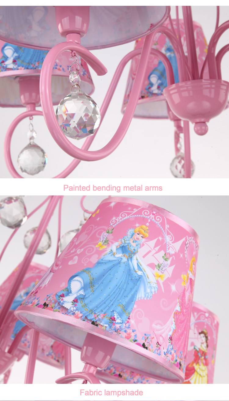 Modern led crystal chandeliers lighting fixture princess kids kids chandelier 209 arubaitofo Gallery