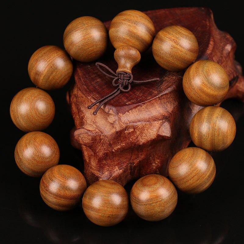 Buddhist Wooden Bracelets ,Natural Green Sandalwood Bead Bra