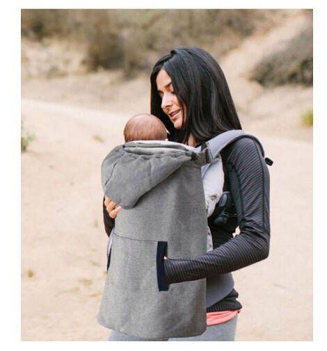 ФОТО Baby Carrier Cover Infant Toddlers Plus Velvet Coat for Sling Wrap Baby Carrier Backpack Hooded Cloak for Winter Baby Suspenders