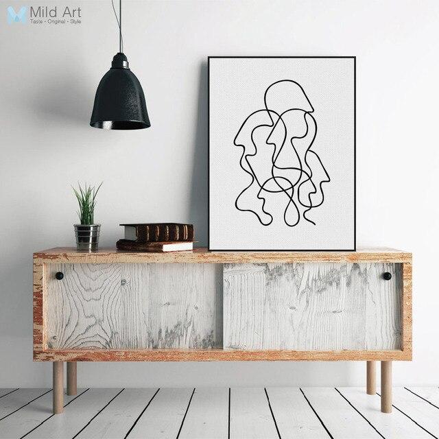 Lieblich Picasso Moderne Abstrakte Minimalistischen Porträt Leinwand A4 Kunstdruck  Poster Wand Bilder Wohnzimmer Wohnkultur Malerei Custom